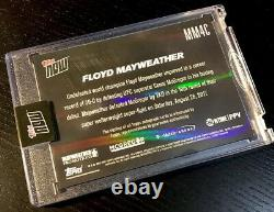Floyd Mayweather Vs Mcgregor Autographes 2017 Topps Now Red 10/10 #mm4c