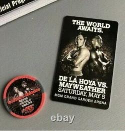 Floyd Mayweather Vs Oscar De La Hoya Signé Programme Sur Place + Accesories