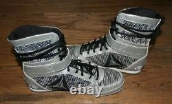 Floyd Money Mayweather Jr À La Fois Signé Reebok Chaussures De Boxe Bas Authentifié