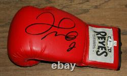 Floyd Money Mayweather Signé Auto Cleto Reyes Boxe Gant Bas Témoin #wd96342