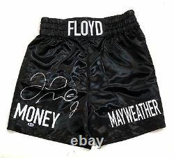 Floyd Money Mayweather Signé Shorts De Boxe Troncs Autographe Beckett Bas Coa