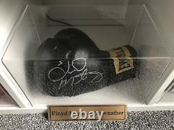 Gants De Boxe Floyd Mayweather Dans La Boîte D'affichage Memorabilia Avec Coa
