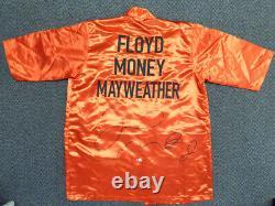 Jr. Floyd Mayweather. Robe De Boxe Rouge Signée Authentique Beckett 121818