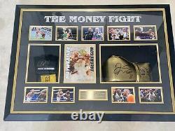 Le Money Fight Floyd Mayweather & Conor Mcgregor Signe Des Gants À Montage