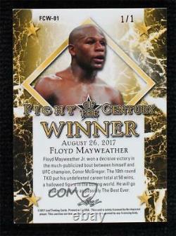Leaf Fight Of The Century Winner Red 1/1 Floyd Mayweather Jr #fcw-01