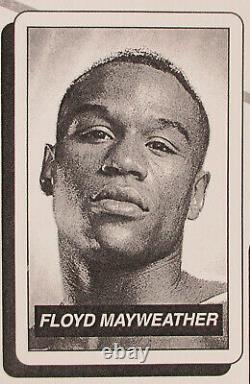 Limité Ed. /100 2004 Floyd Mayweather #162 Carte De Boxe Sur Site Programme Sp Promo