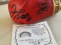 Manny Pacman Pacquiao & Floyd Mayweather Jr. Gants De Boxe Everlast Signés Coa