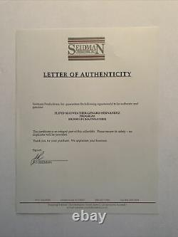 Programme Floyd Mayweather-genaro Hernandez 1998 Signé Par Mayweather/son 1er Titre