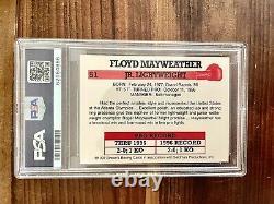 Psa 9 1997 Brown's Boxing Floyd Mayweather Jr Rookie Rc #51 Et Set