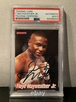 Psa Authentic Floyd Mayweather Signé 1999 Browns Bonus Card 2nd Rookie Card