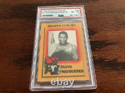 Rare 1997 Brown's Floyd Mayweather Jr. Carte De Boxe Rookie Psa 8