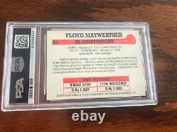Rare 1997 Original Jr Floyd Mayweather. Recrue Boxe Carte Psa 9