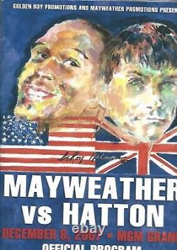 Rare 2007 Floyd Mayweather Jr (usa) Contre Ricky Hatton (angleterre) Programme De Titre Mondial