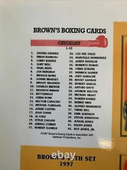Rare Browns 11th Set Uncut Sheet Featuring The Floyd Mayweather Rookie Card