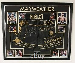 Rare Floyd Mayweather Signé Shorts Autographed Frame Display