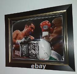 Rare Oscar De La Hoya Signe Gant De Boxe Autograph Vs Floyd Mayweather Display