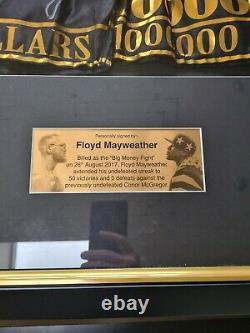 Signé, Encadré, Floyd Mayweather Shorts / Trunks Avec Certificat D'authenticité