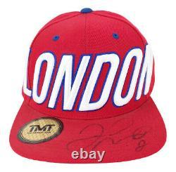 Signé Floyd Mayweather Boxing Flat Cap Tmt Champion Du Monde Autographe +coa