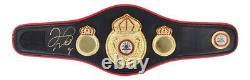 Signé Floyd Mayweather Boxing Mini Ceinture Champion Du Monde Icon Rare +coa