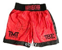 Signé Floyd Mayweather Shorts Champion Du Monde Tmt Autographe +coa
