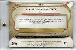 Topps Triple Threads 2017 Floyd Mayweather Auto Relic Sapphire 1/3 Sp