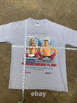 Vintage 2001 Floyd Mayweather Julio Chavez Jr Chemise De Boxe Rap Tee Medium Tyson