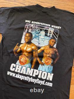 Vintage Années 90 Pretty Boy Floyd Mayweather Boxe Rap Tee T-shirt XL 22.5x31.5
