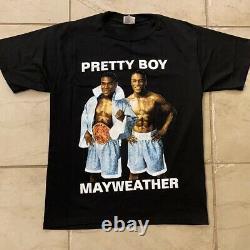 Vintage Floyd Mayweather Boxe Rap Tee T-shirt Taille M Vtg Années 90