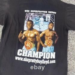 Vtg 90s Pretty Boy Floyd Mayweather Black Rap Tee Size XXL Boxe Rap T-shirt